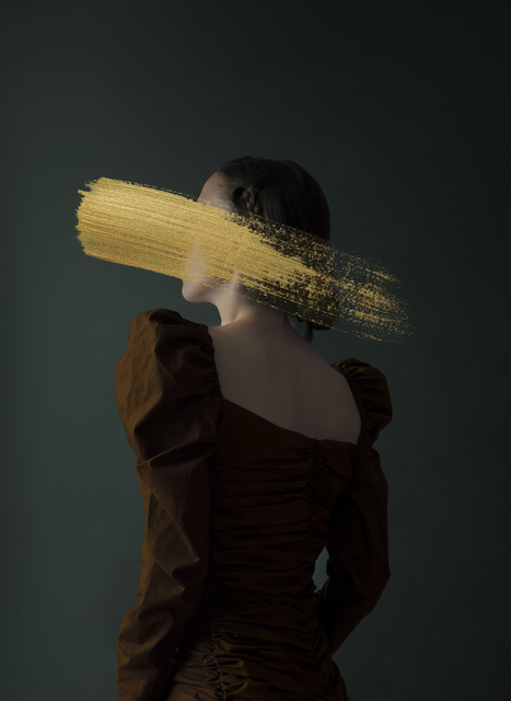 Andrea Torres Balaguer, 'Hazel', 2018, Photography, Hahnemuhle Photo Rag Baryta paper and Acrylic Painting, Alzueta Gallery