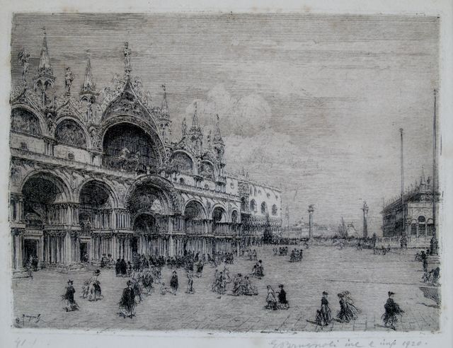 Emanuele Brugnoli, 'San Marco, Venice', 1921, Private Collection, NY