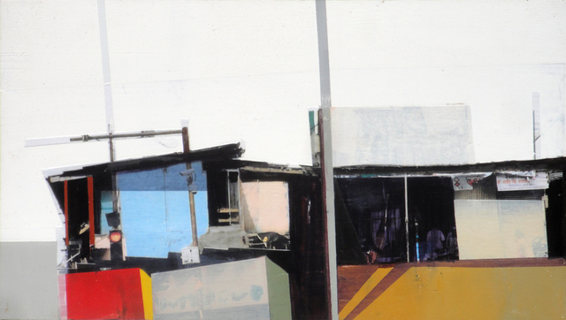 Siddharth Parasnis, 'Cityscape #18', 2018, Painting, Mixed media on panel (framed), Sue Greenwood Fine Art