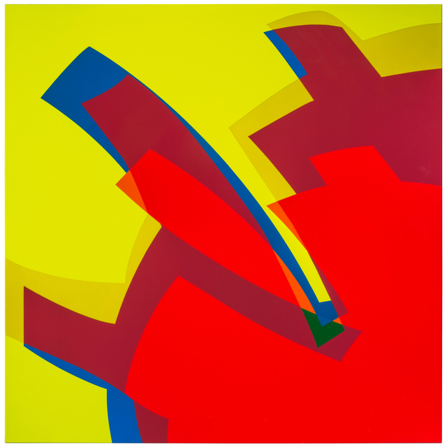 Manuel Ojeda, 'MTCAL 2-3 Rojo', 2017, Mixed Media, Car paint on aluminum, Marion Gallery