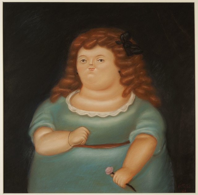 Fernando Botero, 'Young Girl with Pink Flower', 1968, Galeria Freites
