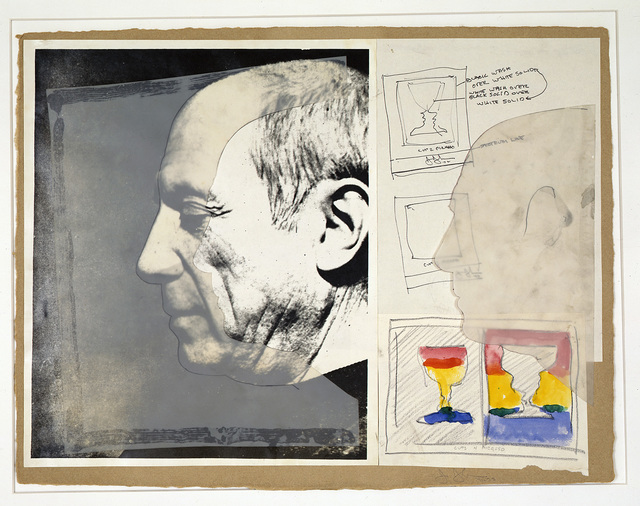 Jasper Johns, 'Sketch for Cups 2 Picasso / Cups 4 Picasso', 1970-1971, RMN Grand Palais