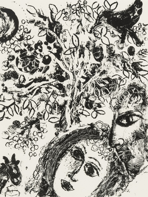 Marc Chagall, 'Le Couple devant L'Arbre; Devant la Tableau (Cramer 43)', 1960, Print, Two lithographs, Forum Auctions