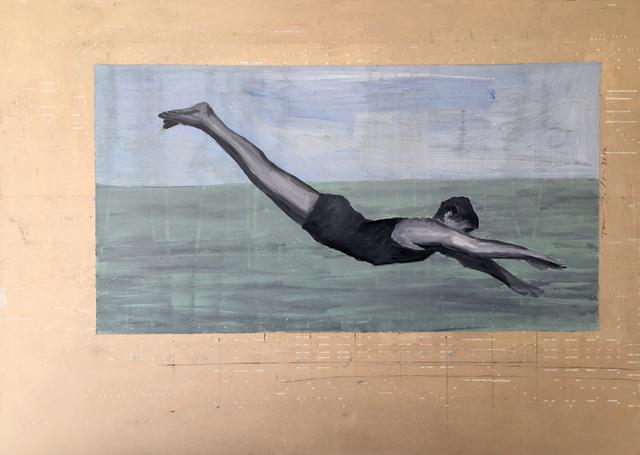 , 'Diving Figure #5,' 2017, Sue Greenwood Fine Art