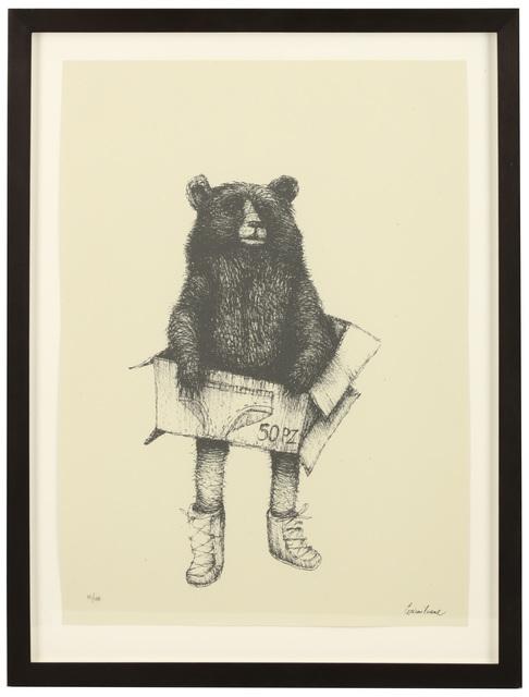 Ericilcane, 'Grey Bear', 2006, Print, Screenprint on paper, Chiswick Auctions