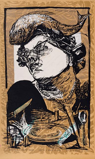 William Kentridge, 'Art in a State of Grace; Art in a State of Hope (100 Years of Easy Living); Art in a State of Siege (Tatlin in Berea), three', 1988, Strauss & Co