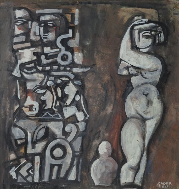 Bela Kadar, 'Untitled (Nude with Totemic Column)', circa late 1940s/early1950s, Heritage Auctions