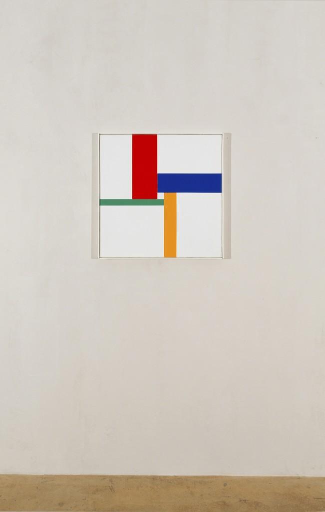 Max Bill, farbprogression um weissen kern, 1969-70, oil on canvas, 62 x 62 cm