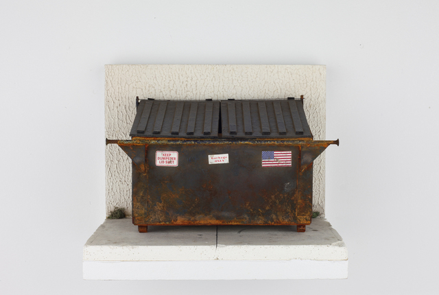 , 'Rusty Navy Blue Dumpster (in vitrine),' 2019, Visions West Contemporary