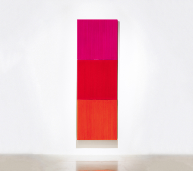 , 'Who likes K magenta? / Who likes K red?/ Who likes K orange?,' 2016, Gallery Hakgojae