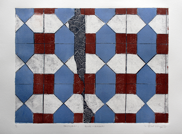 , 'Pattern 1 Blue + Brown,' 2015, Geary