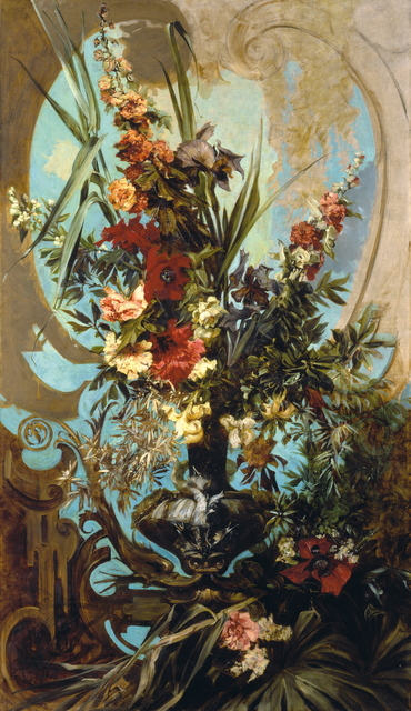 , 'Decorative Flower Bouquet,' 1884, Belvedere Museum