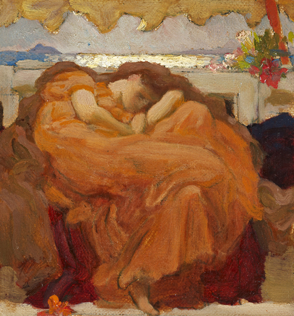 ", 'Sketch for ""Flaming June"",' 1894-1895, The Frick Collection"