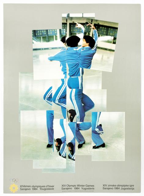 David Hockney, 'Vintage David Hockney poster, XIV Olympic Winter Games 1984, The Skater', 1984, Petersburg Press