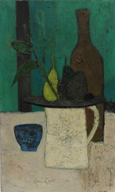 Rene Genis, 'Nature morte au fond vert', 1965, Painting, Oil on canvas, Artioli Findlay