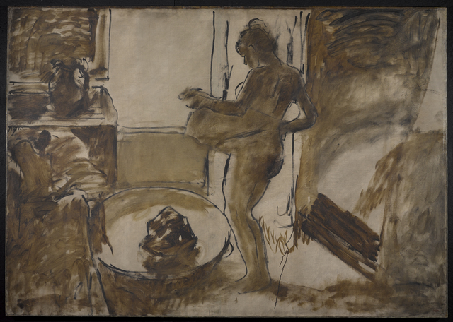 , 'Nude Woman Drying Herself (Femme au Tub),' ca. 1884, Brooklyn Museum