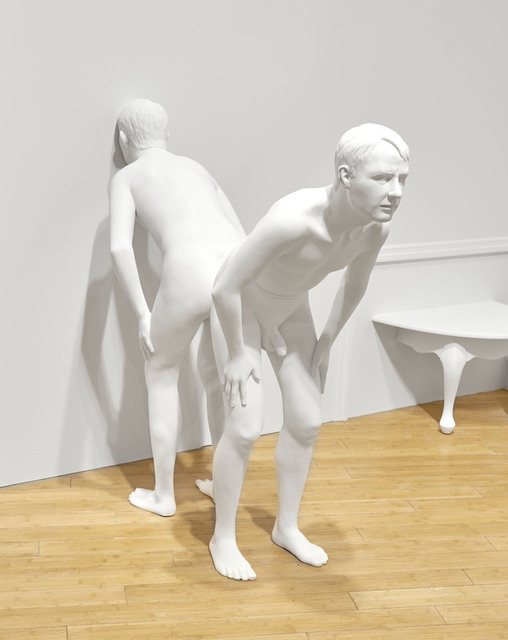 , 'Untitled (leaning male #2),' 2018, HATHAWAY | Contemporary Gallery