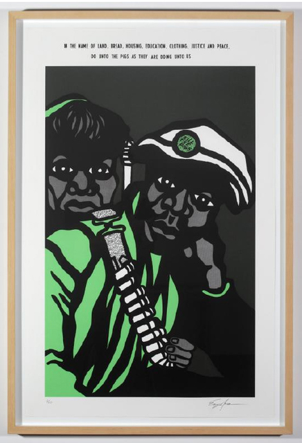 Emory Douglas, 'July 18, 1970', 2009, Print, Screen print on arches paper, OSMOS