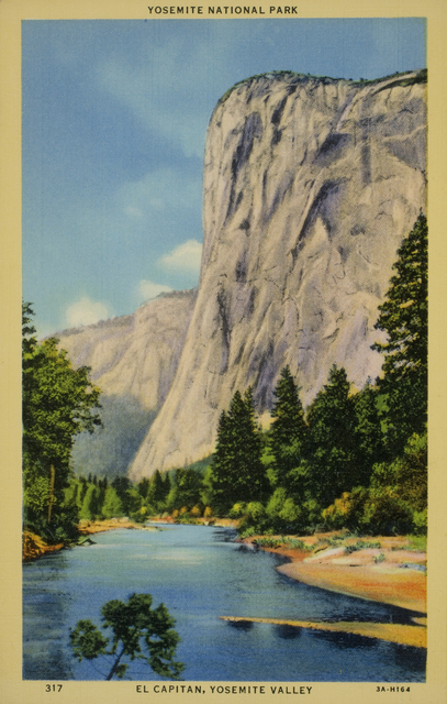 , 'Yosemite National Park. El Capitan. Yosemite Valley,' ca. 1940, George Eastman Museum