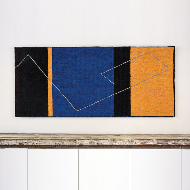 Gudrun Pagter, 'Yellow, Blue, and Black', Textile Arts, Sisal, linen/flax, browngrotta arts