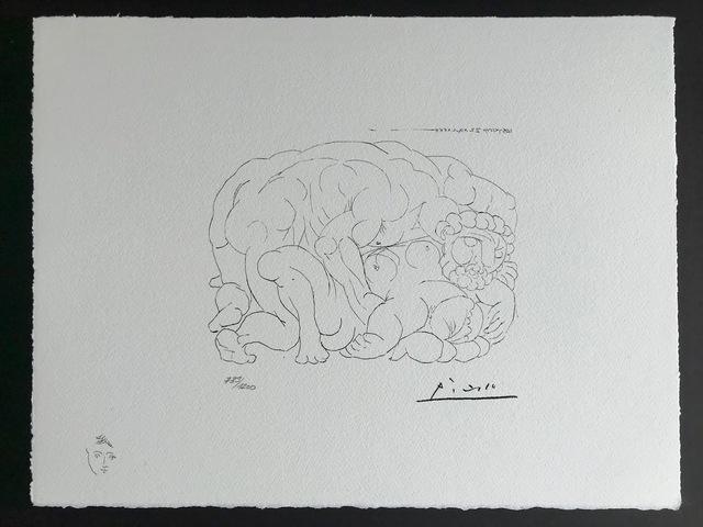 Pablo Picasso, 'L'étreinte I (Suite Vollard Planche XXX)', 1973, ByNewArt