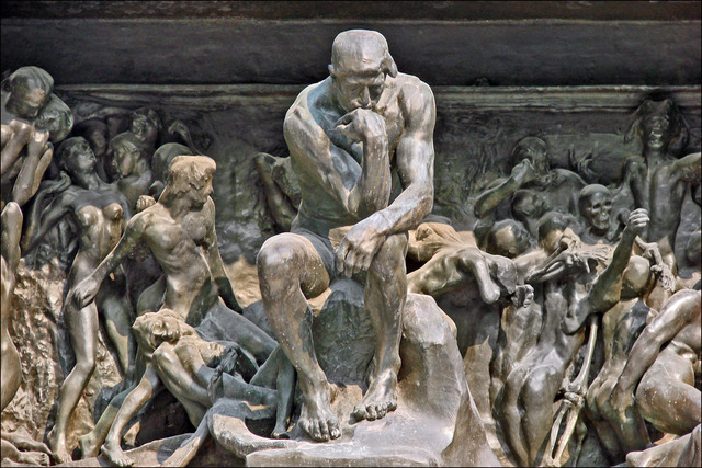 Auguste Rodin, 'The Gates of Hell (Detail: The Thinker),' 1902, Musée Rodin