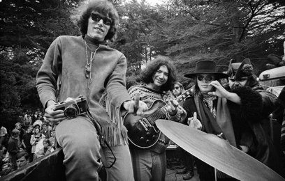 Group Shot of the Grateful Dead and Jefferson Airplane in Golden Gate Park, San Francisco, 1967