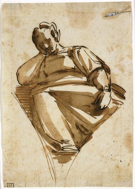 Luca Cambiaso, 'A Sibyl', mid 1570s, Blanton Museum of Art