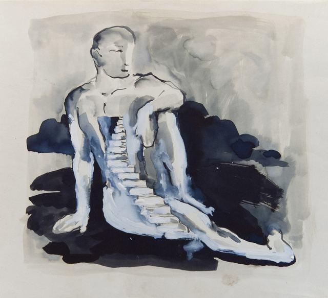 Antonio Hin-yeung Mak, 'Untitled (Staircase on man)', ca. 1975-1990, Blindspot Gallery