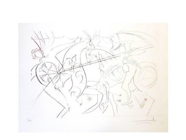 """Salvador Dalí, 'Original Etching """"The Garde"""" by Salvador Dali', 1975, Galerie Philia"""