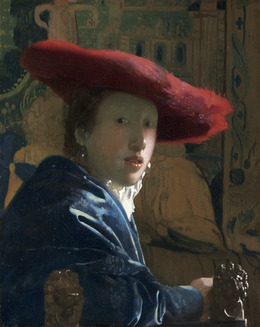 Johannes Vermeer, 'Girl with the Red Hat', ca. 1665/1666, Painting, Oil on panel, National Gallery of Art, Washington, D.C.