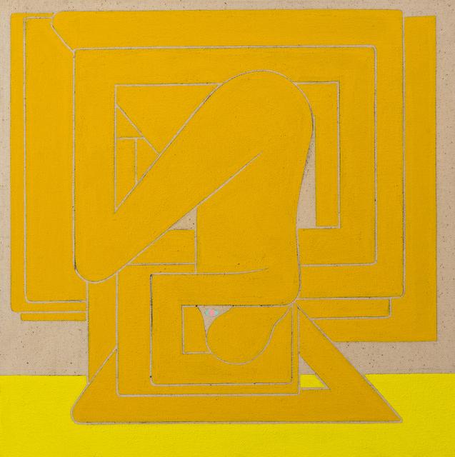 , 'Richard Colman Untitled, (Yellow Figure, Pink Eye),' 2018, V1 Gallery