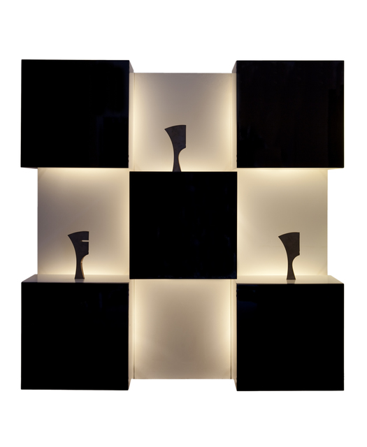 , 'Luminous Wall-Mounted Cabinet,' 1970, Galleria Rossella Colombari