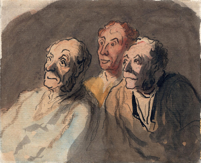 , 'Three Attentive Spectators,' 1808-1879, Jill Newhouse Gallery