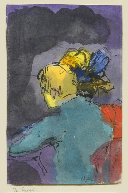 Emil Nolde, 'Im Theater', ca. 1910, Drawing, Collage or other Work on Paper, Watercolor and India Ink on Paper, Galerie Utermann