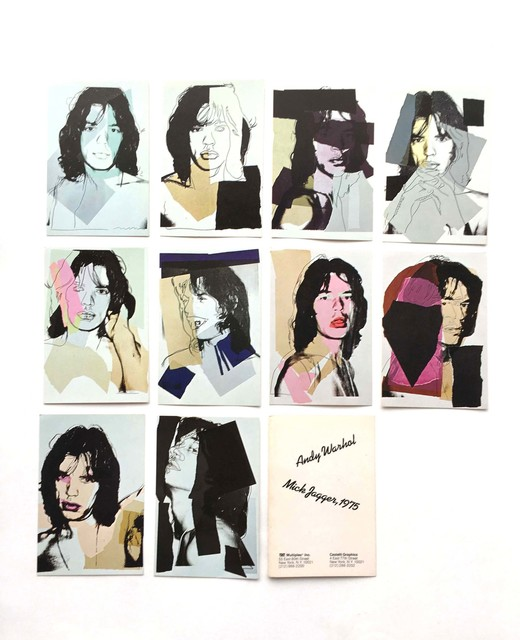 Andy Warhol, 'Mick Jagger mini-postcard portfolio of 10 numbered cards ', 1975, Gallery 52