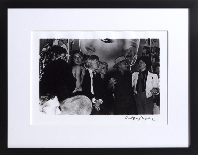 Anton Perich, 'Interview Magazine Party (including Andy Warhol, Jerry Hall, Debbie Harry, and more)', ca. 1983, Photography, Silver Gelatin Print, RoGallery