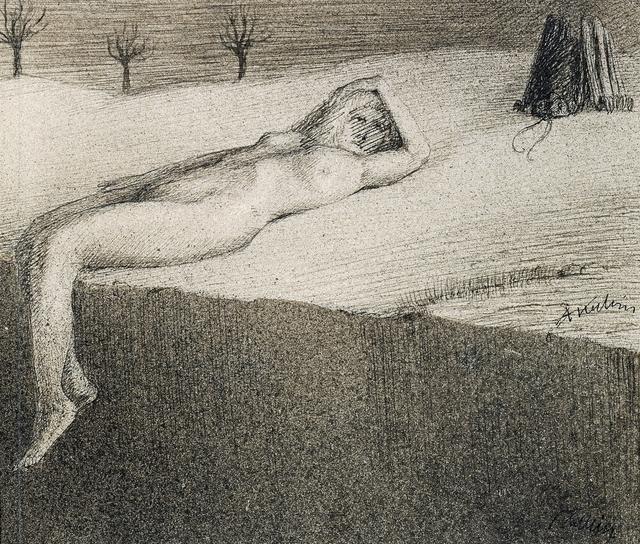 Alfred Kubin, 'Reclining Nude by a Cliff', ca. 1900, Richard Nagy Ltd.