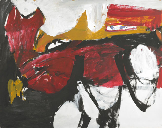 , 'Untitled (Black, White, Red, and Brown IV),' ca. 1955, Berry Campbell Gallery