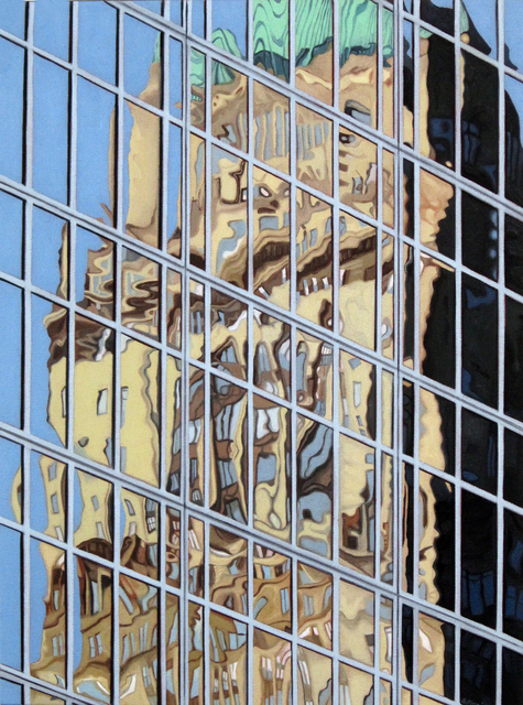 , '42nd and Sixth Reflections,' 2017, Denise Bibro Fine Art