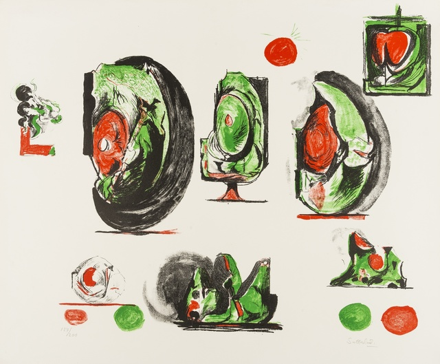 Graham Sutherland, 'Study Boards (Tassi 116)', 1971, Print, Lithograph printed in colours, Forum Auctions