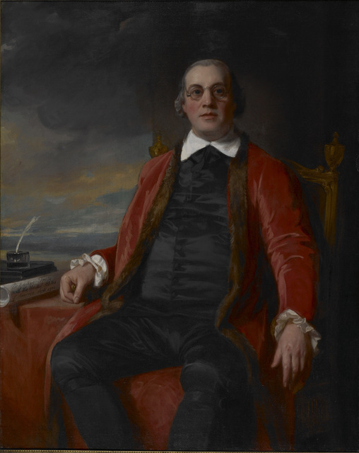 George Romney, 'Portrait of David Hartley, M.P. (1732-1813)', 1784, Avery Library