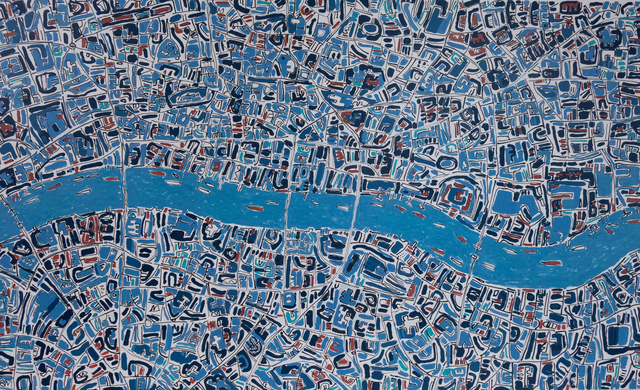 , 'London Prussian Blue, Terracotta,' 2019, Rebecca Hossack Art Gallery