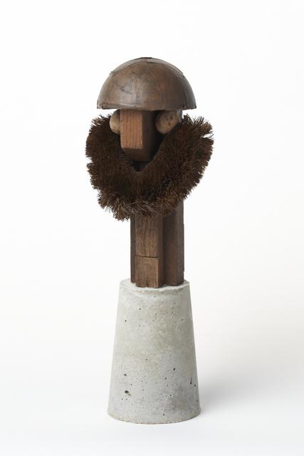 Keisuke Yamamoto, 'Pyrotechnician', 2013, Sculpture, Scrubbing brush, cardboard, wood, cement, oil stain, Tomio Koyama Gallery