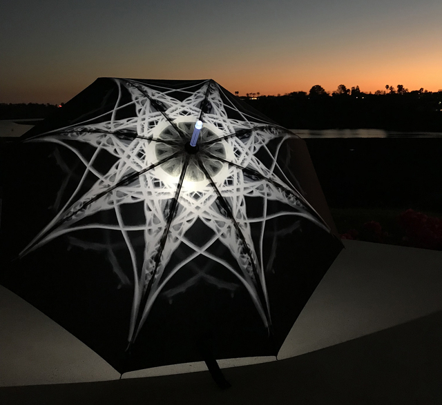 Elizabeth Turk, 'Shoreline Project: X-Ray Mandala Umbrella (black against white)', 2018, Mixed Media, Performance Prop, Laguna Art Museum Benefit Auction