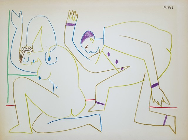 Pablo Picasso, 'Untitled (Revue Verve)', 1954, Print, Lithograph, Graves International Art