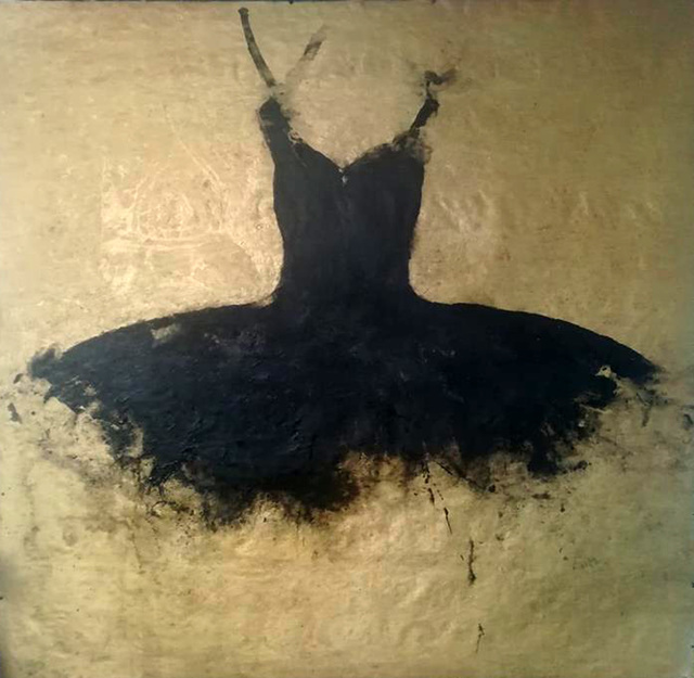 , 'Big Black Opera Dress,' 2018, Galleria Ca' d'Oro