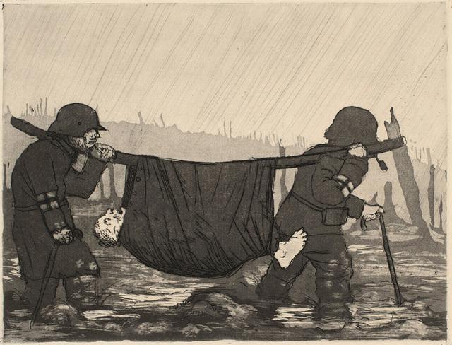 Otto Dix, 'Verwundetentransport im Houthulster Wald', 1924, Charles Nodrum Gallery