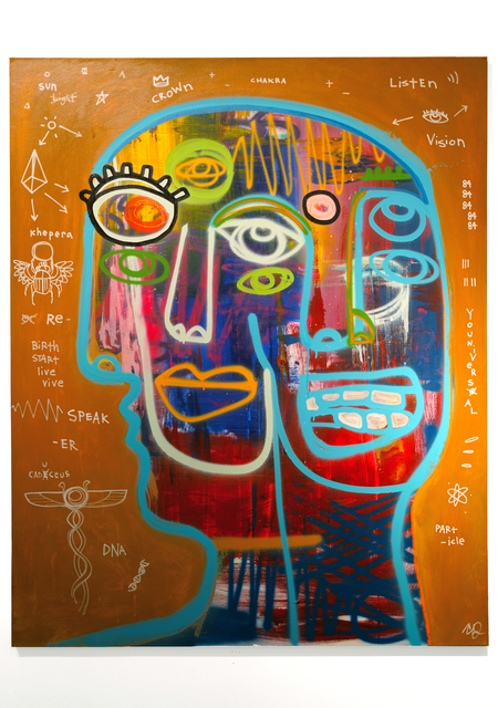 Clarence James, 'Life Cycle', 2021, Painting, Acrylic, aerosol, oil sticks on canvas, DTR Modern Galleries