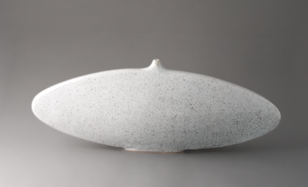 , 'Elliptical vase, ice crackle glaze,' , Pucker Gallery